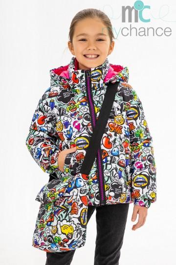 Демисезонная куртка  принт 151