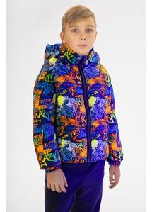 Демисезонная куртка  принт 149