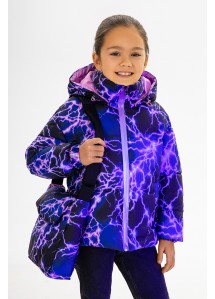 Демисезонная куртка  принт 150