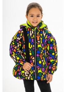 Демисезонная куртка  принт 154