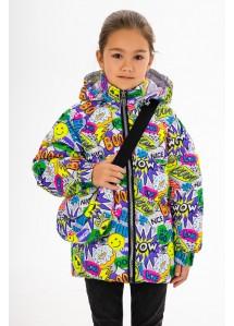 Демисезонная куртка  принт 155