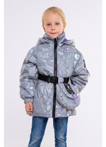 Демисезонная куртка  Одри неон